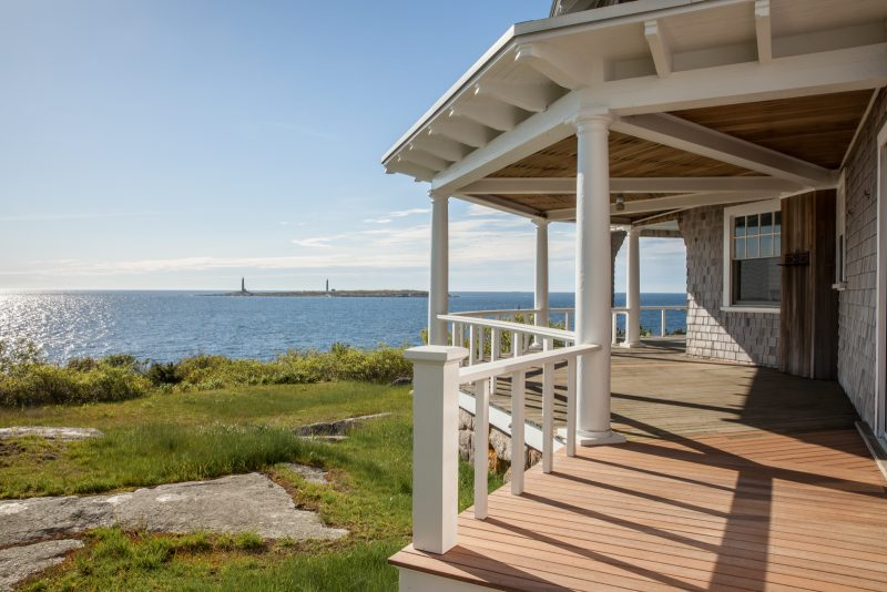 Construction deck with oceanside view
