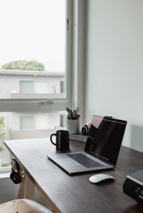 home office with window view
