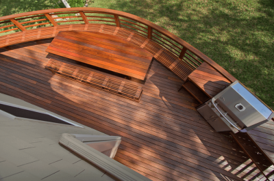Exterior Living Space On A Stained Finish Deck