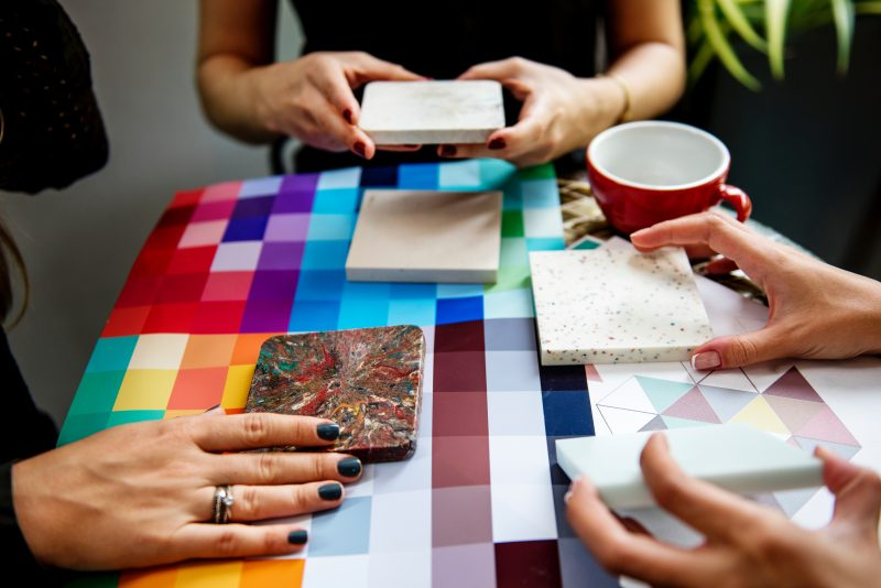 color swatches and floor options