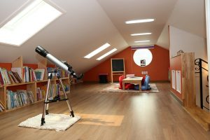 Attic space in home
